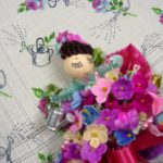 Little Gardener Hankie and Mini Corsage Set