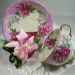 Vintage Orchid Tea Cup Set