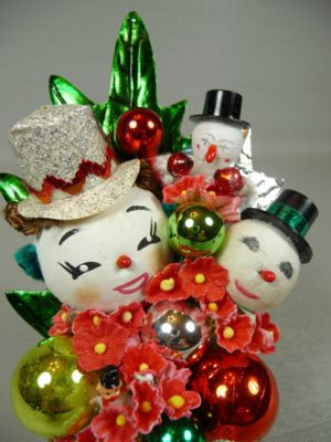 Frosty & Friends Vintage Snowmen Corsage