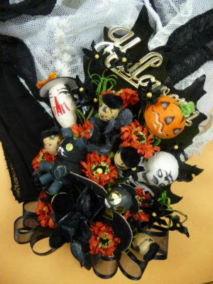 Vintage Spun Cotton Halloween Corsage