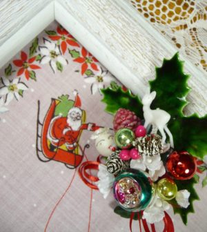 Christmas Reindeer Hankie and Corsage Gift Set
