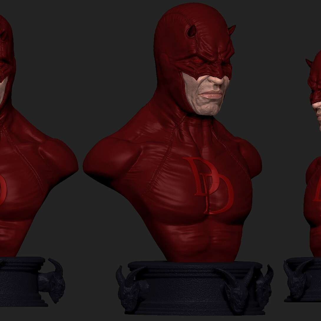 CLASSIC DAREDEVIL BUST  - Now you can have in your collection a great piece of the classic blind hero and punisher of the night, the demon of Hell's Kitchen. A bust detailed the most famous man without fear. Get this beautiful STL for 3D printing now and don't waste time protecting your collection!  INFO: Now you can have in your collection a great piece!   Print tested on an Elegoo Mars printer. With a total of 07 pieces. Only STL for 3D printing. - Los mejores archivos para impresión 3D del mundo. Modelos Stl divididos en partes para facilitar la impresión 3D. Todo tipo de personajes, decoración, cosplay, prótesis, piezas. Calidad en impresión 3D. Modelos 3D asequibles. Bajo costo. Compras colectivas de archivos 3D.