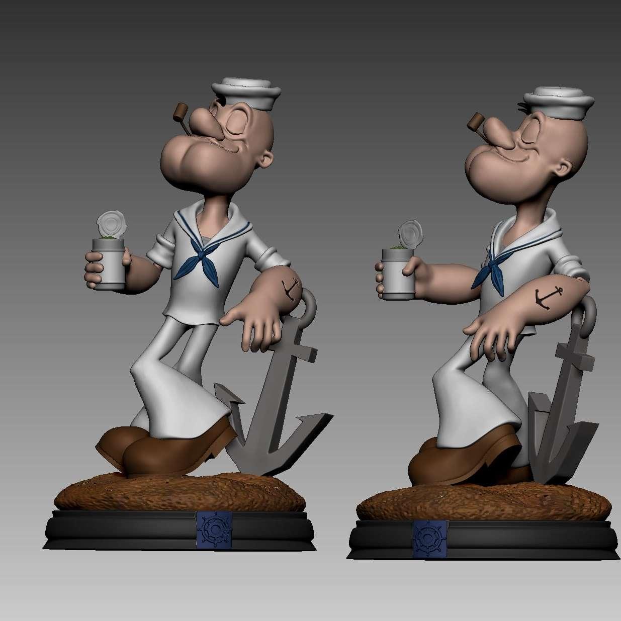 popeye  - Popeye é um personagem clássico dos quadrinhos, criado por Elzie Crisler Segar em 17 de janeiro de 1929, na tira de jornal Thimble Theatre, em 1933, foi adaptado em uma série de curta-metragens de animação pela Fleischer Studios e posteriormente pelo Famous Studios para Paramount Pictures que durou até 1957 - Os melhores arquivos para impressão 3D do mundo. Modelos stl divididos em partes para facilitar a impressão 3D. Todos os tipos de personagens, decoração, cosplay, próteses, peças. Qualidade na impressão 3D. Modelos 3D com preço acessível. Baixo custo. Compras coletivas de arquivos 3D.