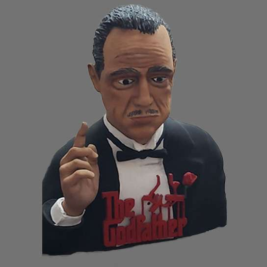 The Godfather - Bust Godfather File ready for printing 06 STL files ready for printing Model cut and prepared with for printing Height: 12cm  Escala 1:4 - The best files for 3D printing in the world. Stl models divided into parts to facilitate 3D printing. All kinds of characters, decoration, cosplay, prosthetics, pieces. Quality in 3D printing. Affordable 3D models. Low cost. Collective purchases of 3D files.