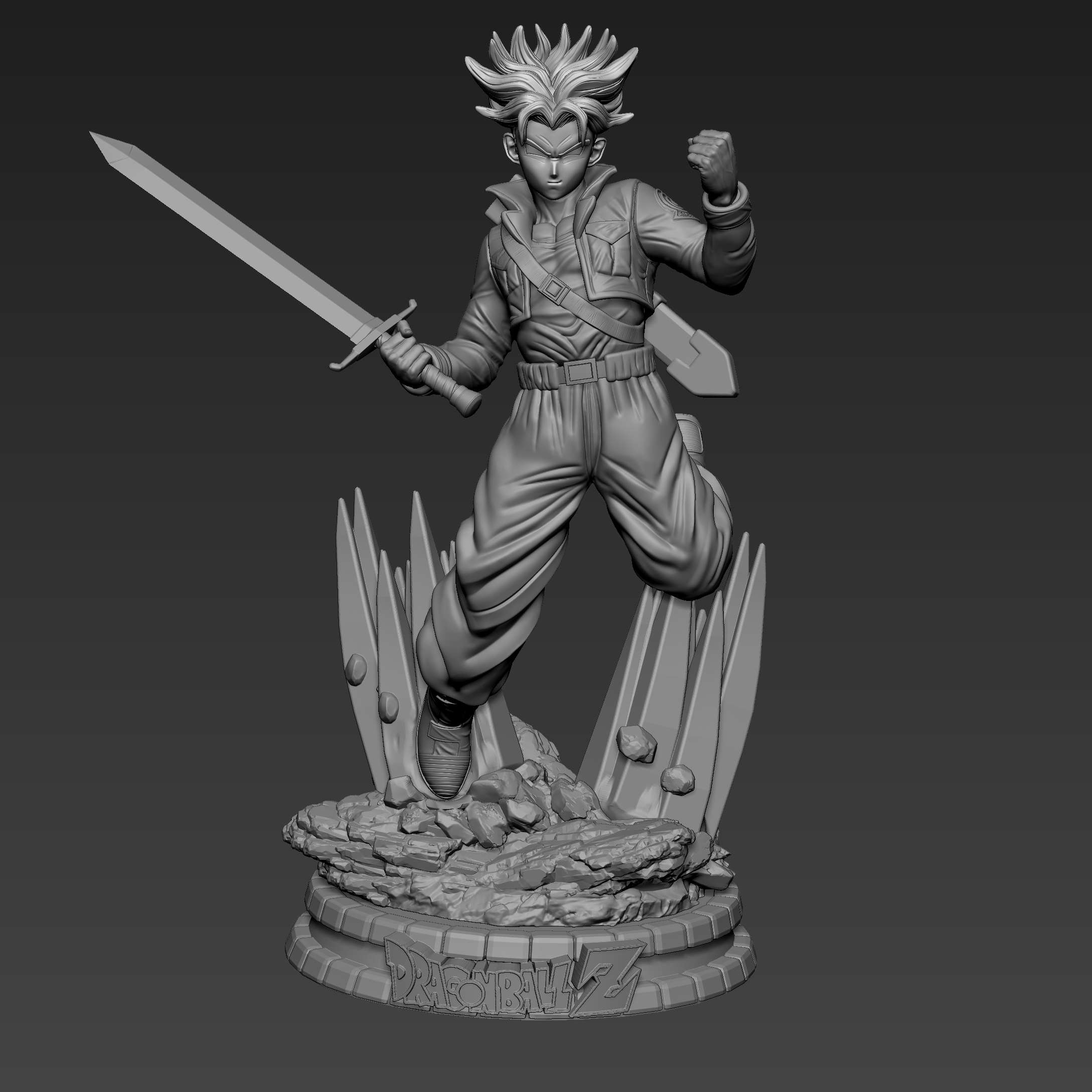 Trunks - Trunks fanart  - The best files for 3D printing in the world. Stl models divided into parts to facilitate 3D printing. All kinds of characters, decoration, cosplay, prosthetics, pieces. Quality in 3D printing. Affordable 3D models. Low cost. Collective purchases of 3D files.