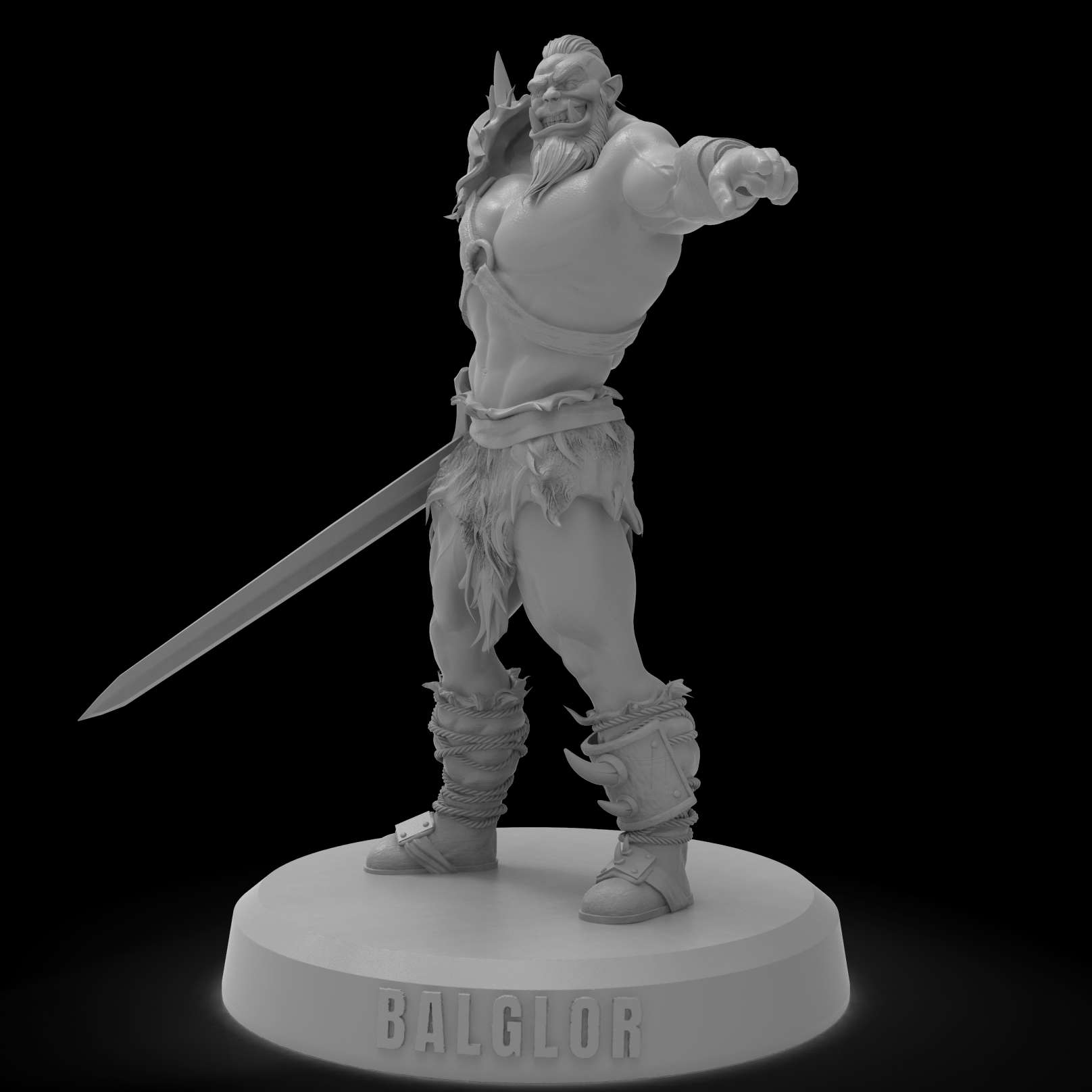Orc Balglo - Scale 1:8 25cm tall, 2 pose models included - The best files for 3D printing in the world. Stl models divided into parts to facilitate 3D printing. All kinds of characters, decoration, cosplay, prosthetics, pieces. Quality in 3D printing. Affordable 3D models. Low cost. Collective purchases of 3D files.