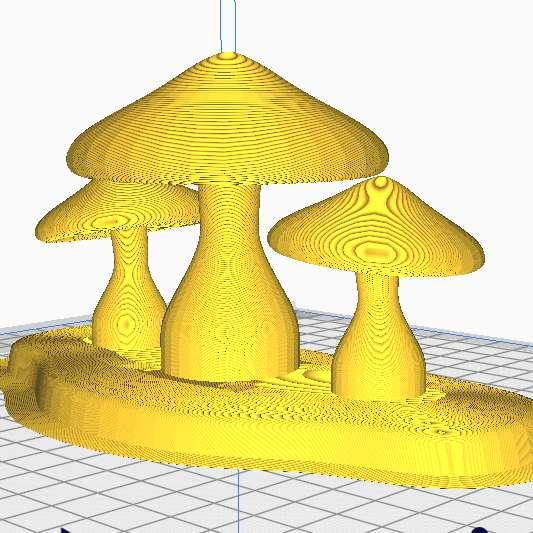 Beautiful Garden Mushroom - Beautiful garden mushroom, ready for printing: Measures: Width: 154.58 mm Length: 72.6083 mm Height: 75.777 mm Hollow: No Note: Sliced model in Ultimaker Cura.  Lindo cogumelo de jardim, pronto para a impressão: Medidas:  Largura: 154.58 mm Comprimento: 72.6083 mm Altura: 75.777 mm Oco: Não Nota: Modelo fatiado no Ultimaker Cura. - Os melhores arquivos para impressão 3D do mundo. Modelos stl divididos em partes para facilitar a impressão 3D. Todos os tipos de personagens, decoração, cosplay, próteses, peças. Qualidade na impressão 3D. Modelos 3D com preço acessível. Baixo custo. Compras coletivas de arquivos 3D.