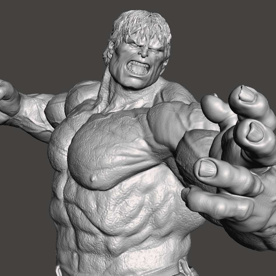 Hulk 2008 - Object created entirely in 3D, divided into parts to facilitate printing and to be able to generate a larger final product, which can be done on smaller printers. It uses invisible cutting technique, when assembled, you cannot see where it joins parts. Using pins to unite, which makes it easier if you want to transport. Hulk 2008 version. Scene in which he is facing the abominable, on the streets of New York. - Os melhores arquivos para impressão 3D do mundo. Modelos stl divididos em partes para facilitar a impressão 3D. Todos os tipos de personagens, decoração, cosplay, próteses, peças. Qualidade na impressão 3D. Modelos 3D com preço acessível. Baixo custo. Compras coletivas de arquivos 3D.