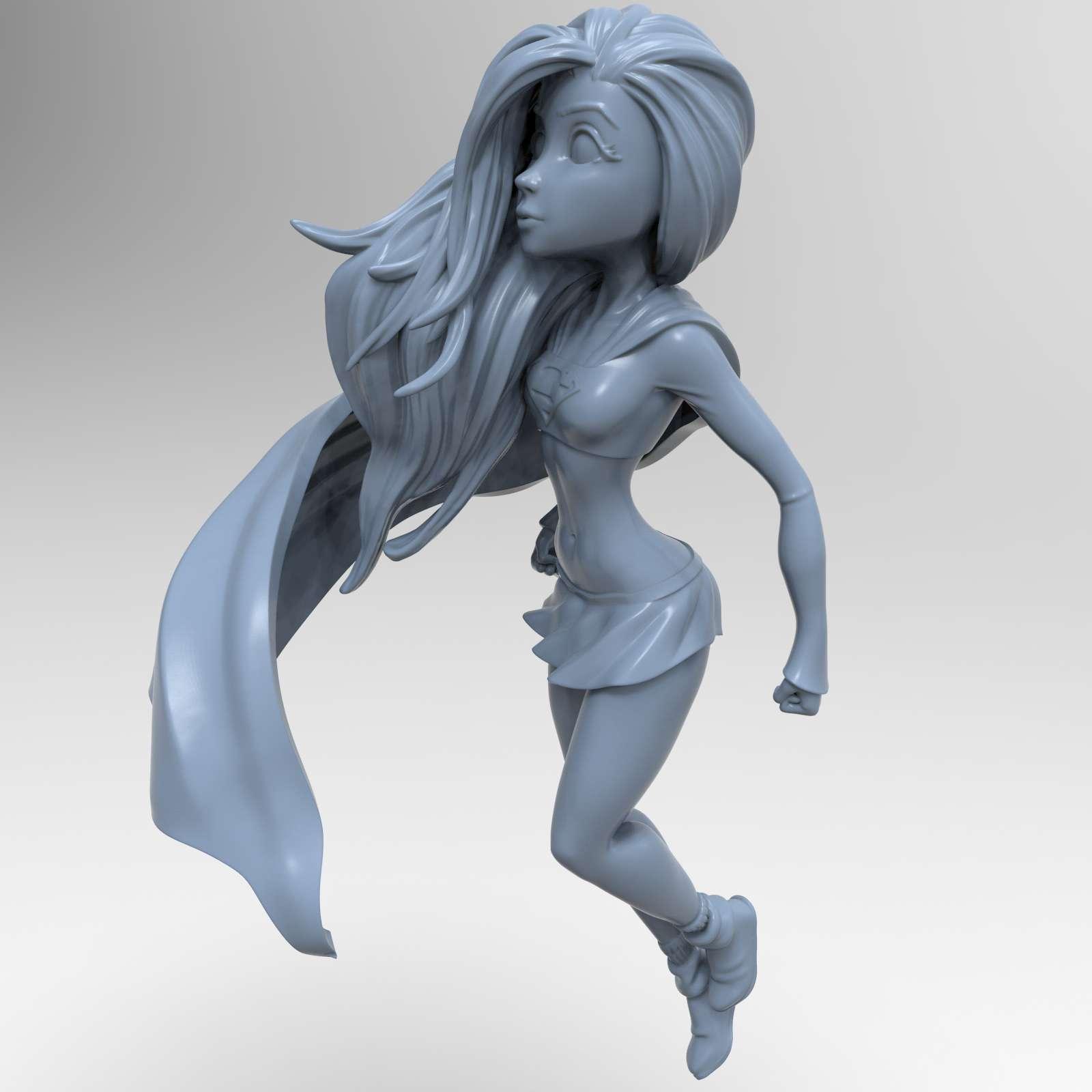 """""""Truth, justice and the American way"""" - Printable model Supergirl stylized separate parts with fitting. - Os melhores arquivos para impressão 3D do mundo. Modelos stl divididos em partes para facilitar a impressão 3D. Todos os tipos de personagens, decoração, cosplay, próteses, peças. Qualidade na impressão 3D. Modelos 3D com preço acessível. Baixo custo. Compras coletivas de arquivos 3D."""