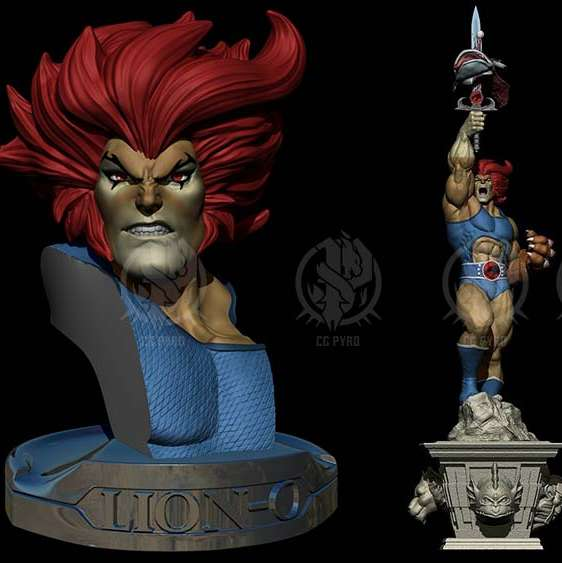 STL Lion-O of the Thundercats - Term of Lion-O of the Thundercats, contains: Bust and Sculpture with interchangeable pieces and Medallion. Scale 1/6 and thanks to its level of detail can be scaled to 1/4. - The best files for 3D printing in the world. Stl models divided into parts to facilitate 3D printing. All kinds of characters, decoration, cosplay, prosthetics, pieces. Quality in 3D printing. Affordable 3D models. Low cost. Collective purchases of 3D files.