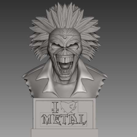 Iron Maiden  - Iron Maiden bust - The best files for 3D printing in the world. Stl models divided into parts to facilitate 3D printing. All kinds of characters, decoration, cosplay, prosthetics, pieces. Quality in 3D printing. Affordable 3D models. Low cost. Collective purchases of 3D files.