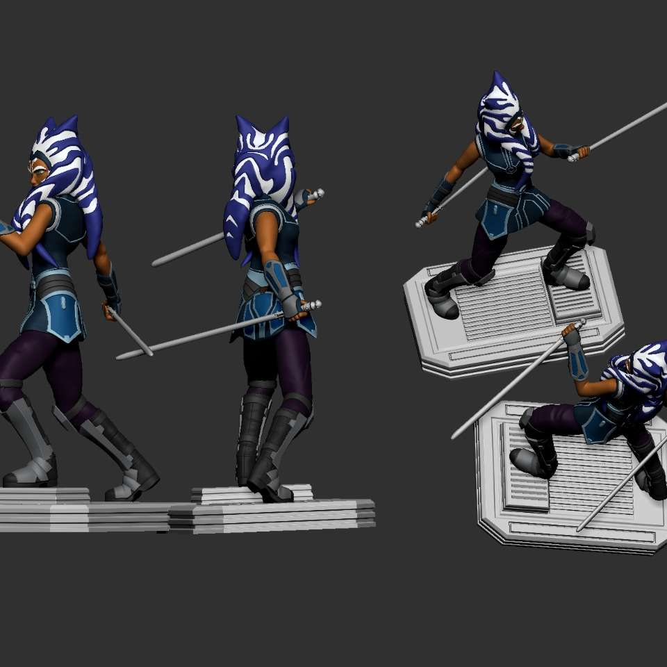 Ahsoka Tano - almost finished model  - The best files for 3D printing in the world. Stl models divided into parts to facilitate 3D printing. All kinds of characters, decoration, cosplay, prosthetics, pieces. Quality in 3D printing. Affordable 3D models. Low cost. Collective purchases of 3D files.