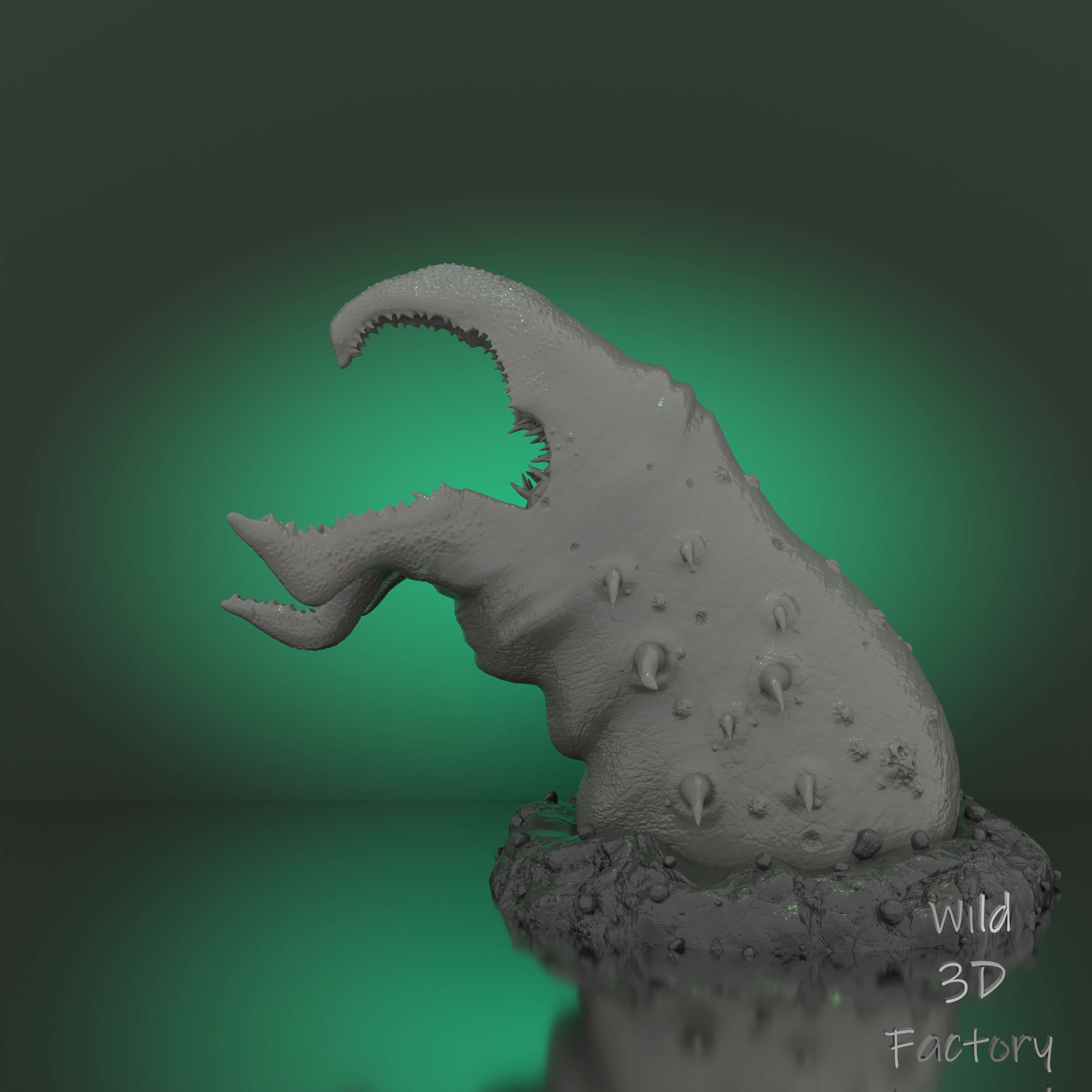 Graboid from Tremors Statue - FanMade Model for 3D printing - I'm very excited to announce the brand new STL FanMade Model ! This Model presents a classic from the 90's - Graboid from Tremors !  The figure is cut/printed/painted ready to go 15cm (see gallery)  2 versions of the head to choose from (with and without snakes heads)  2 stands to choose from  Come back to your youth with this classic !     Thanks a lot !:)      All rights reserved   Wild3DFactory - The best files for 3D printing in the world. Stl models divided into parts to facilitate 3D printing. All kinds of characters, decoration, cosplay, prosthetics, pieces. Quality in 3D printing. Affordable 3D models. Low cost. Collective purchases of 3D files.