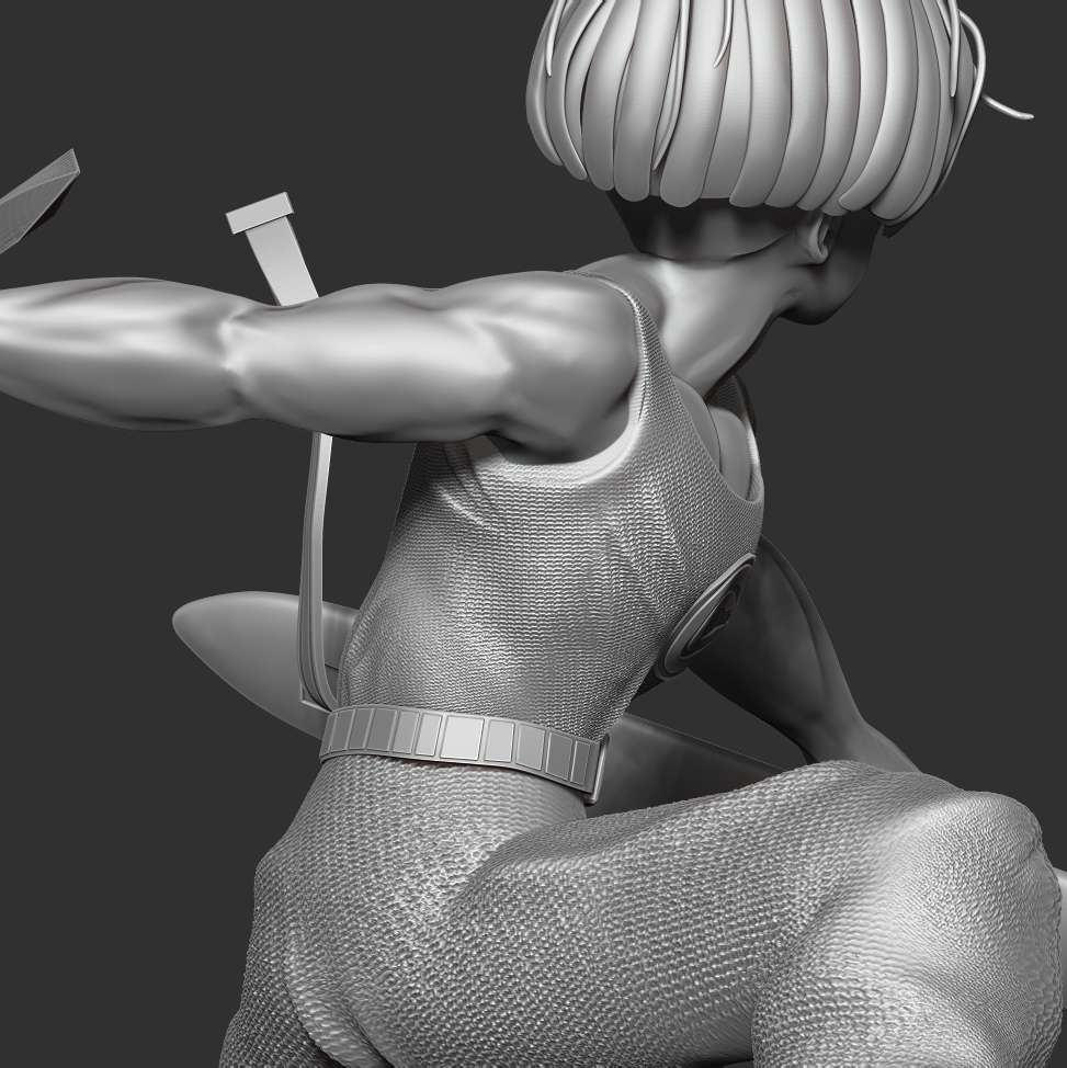 Future Trunks - > I hope you enjoy my model. And if you have a 3D print, please send me the picture.  When you purchase this model, you will own:  **- OBJ, STL files with 10 parts are ready for 3D printing.**  **- Zbrush original files (ZTL) for you to customize as you like.**  _* 21th November, 2020:  This is version 1.0 of this model._  _* 30th November: version 1.2 - Fixed the intersection of the head and hair_  Thank you for watching and supporting buying.  This is always my motivation to try in the next models. - Los mejores archivos para impresión 3D del mundo. Modelos Stl divididos en partes para facilitar la impresión 3D. Todo tipo de personajes, decoración, cosplay, prótesis, piezas. Calidad en impresión 3D. Modelos 3D asequibles. Bajo costo. Compras colectivas de archivos 3D.