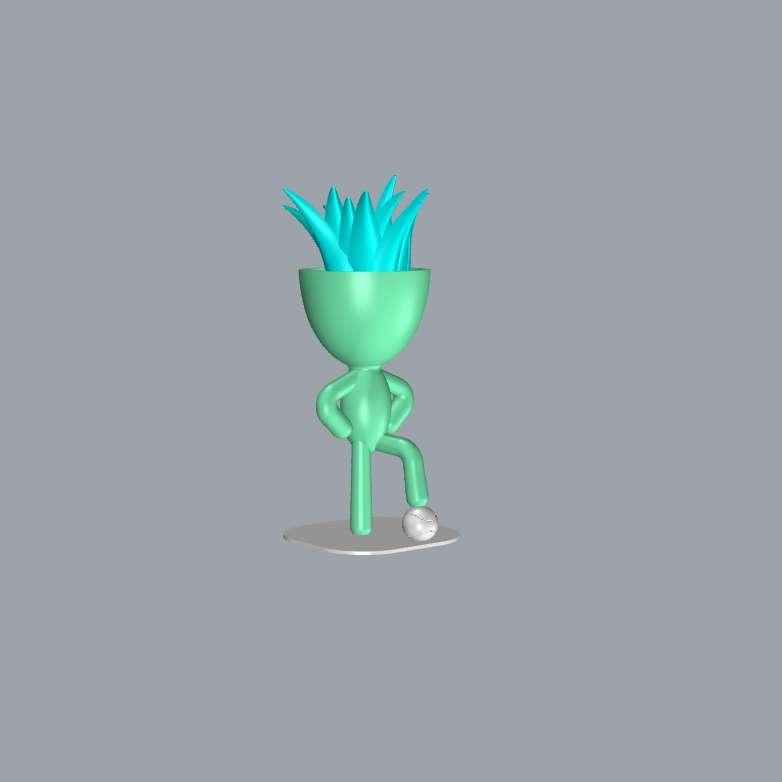 Bob Jogador - Modelo impresso em duas partes, base e boneco, o boneco possui um encaixe (Furo) na base pé e a base um pino, para encaixar e ficar em pé. - Los mejores archivos para impresión 3D del mundo. Modelos Stl divididos en partes para facilitar la impresión 3D. Todo tipo de personajes, decoración, cosplay, prótesis, piezas. Calidad en impresión 3D. Modelos 3D asequibles. Bajo costo. Compras colectivas de archivos 3D.
