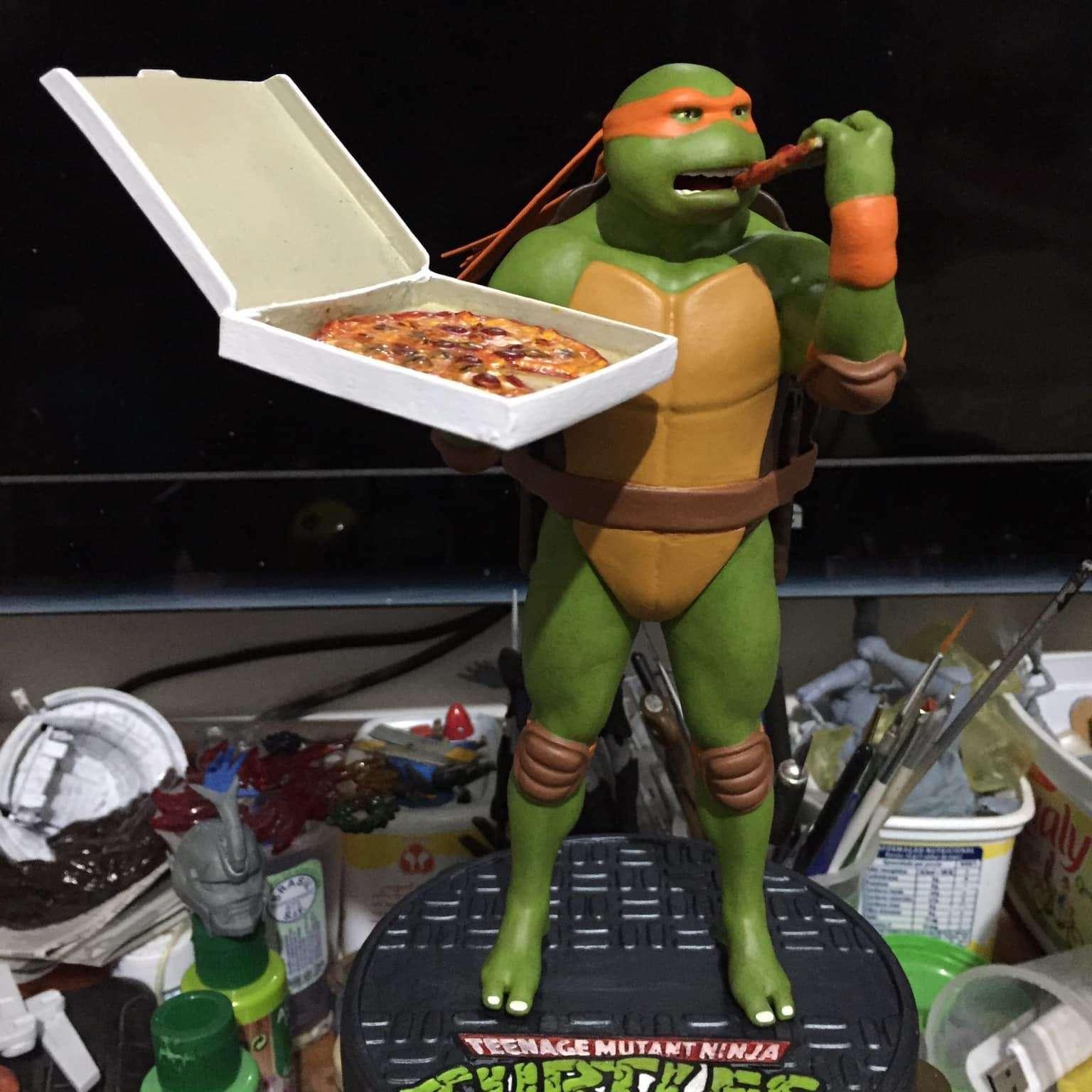 Michelangelo Mikey TMNT for 3d printing - Michelangelo TMNT Statue for 3d printing - Os melhores arquivos para impressão 3D do mundo. Modelos stl divididos em partes para facilitar a impressão 3D. Todos os tipos de personagens, decoração, cosplay, próteses, peças. Qualidade na impressão 3D. Modelos 3D com preço acessível. Baixo custo. Compras coletivas de arquivos 3D.