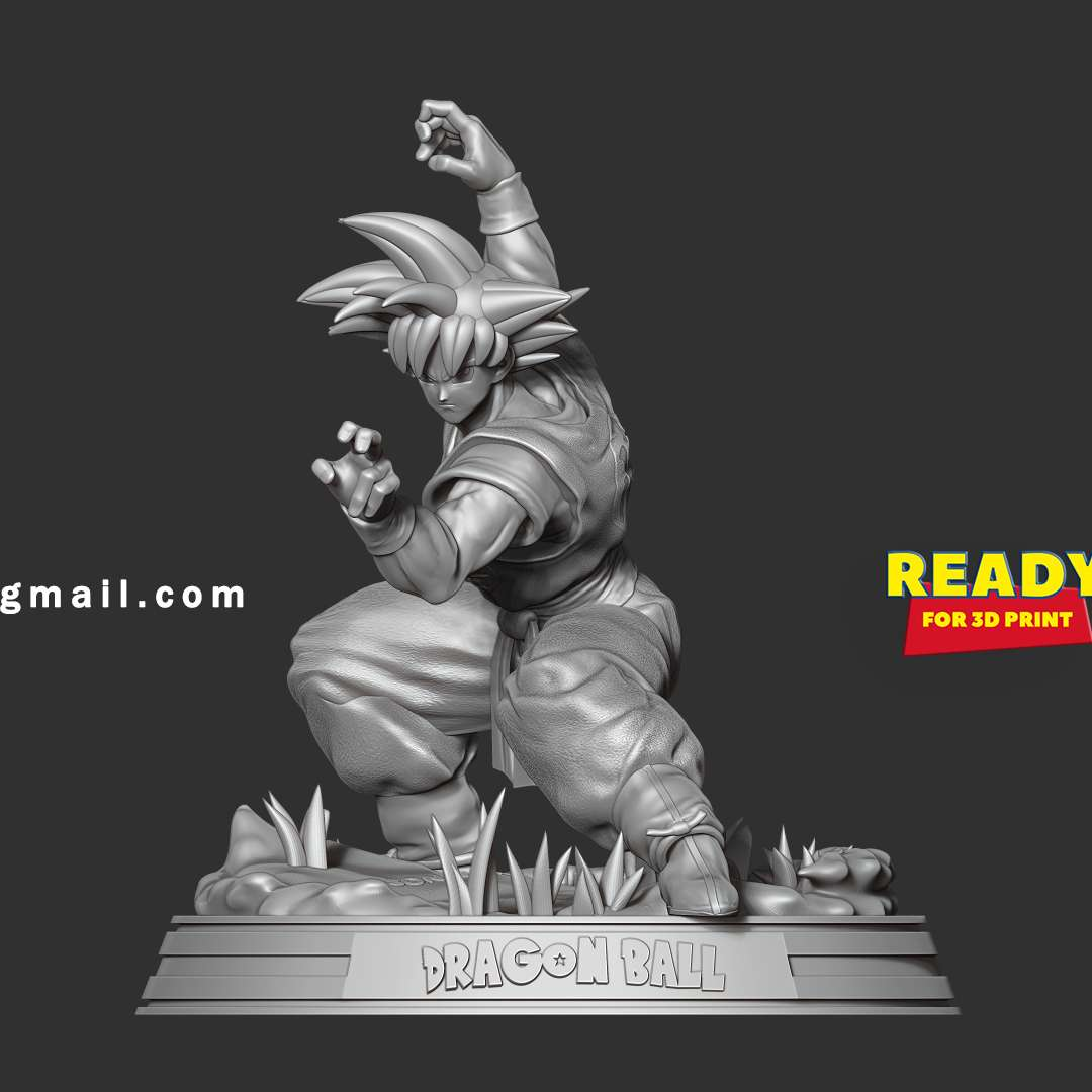 Son Goku - Ready to fight - I don't know how to introduce this character because he is so popular already.  When you purchase this model, you will own:  **- OBJ, STL files with 11 parts are ready for 3D printing**  **- Zbrush original files (ZTL) for you to customize as you like.**  _This is version 1.0 of this model._  Thanks so much for viewing my model!  Hope you guys like him :)     - Los mejores archivos para impresión 3D del mundo. Modelos Stl divididos en partes para facilitar la impresión 3D. Todo tipo de personajes, decoración, cosplay, prótesis, piezas. Calidad en impresión 3D. Modelos 3D asequibles. Bajo costo. Compras colectivas de archivos 3D.