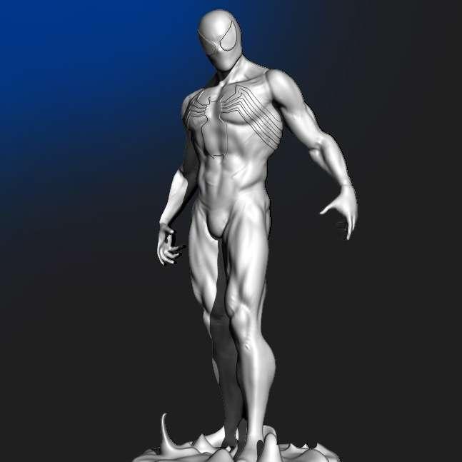 Spider Man Black Suit - A model from spider man in his black suit - Los mejores archivos para impresión 3D del mundo. Modelos Stl divididos en partes para facilitar la impresión 3D. Todo tipo de personajes, decoración, cosplay, prótesis, piezas. Calidad en impresión 3D. Modelos 3D asequibles. Bajo costo. Compras colectivas de archivos 3D.
