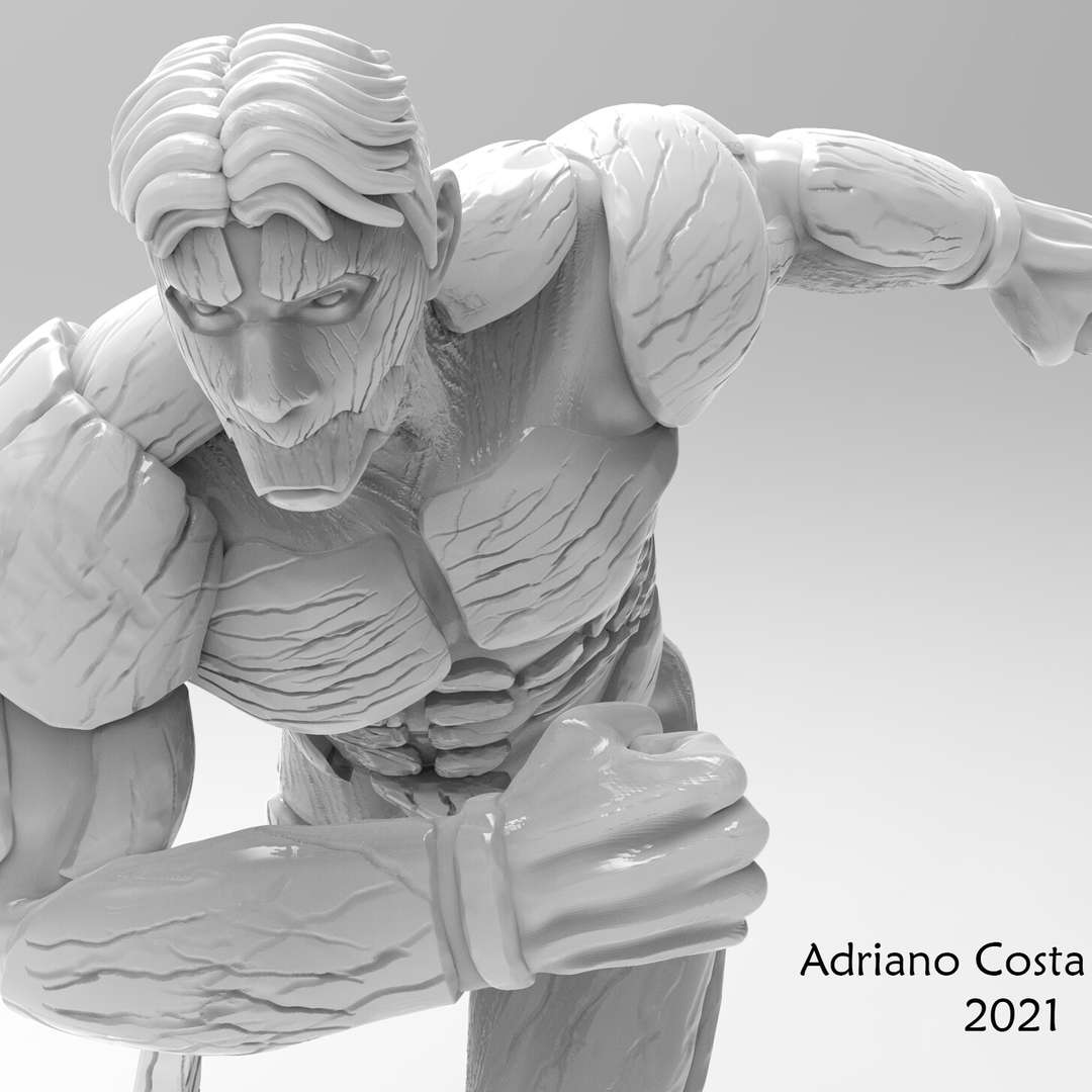 Armored Titan - A study project of Armored Titan from Attack on Titan sculpted in Zbrush, Rendered in Keyshot with the stone material and ready for 3D printing. - The best files for 3D printing in the world. Stl models divided into parts to facilitate 3D printing. All kinds of characters, decoration, cosplay, prosthetics, pieces. Quality in 3D printing. Affordable 3D models. Low cost. Collective purchases of 3D files.