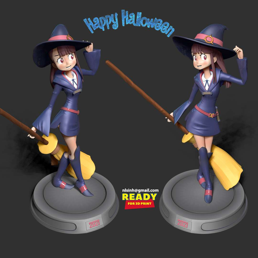 Atsuko Kagari - Akko - Atsuko Kagari, more commonly known by her nickname Akko, is the titular main protagonist of Little Witch Academia. She is a first-generation witch from Japan and an admirer of Shiny Chariot. - quote from wiki  When you purchase this model, you will own:  - STL, OBJ file with 08 separated files (with key to connect together) is ready for 3D printing.  - Zbrush original files (ZTL) for you to customize as you like.  This is version 1.0 of this model.  Thanks for viewing! - Os melhores arquivos para impressão 3D do mundo. Modelos stl divididos em partes para facilitar a impressão 3D. Todos os tipos de personagens, decoração, cosplay, próteses, peças. Qualidade na impressão 3D. Modelos 3D com preço acessível. Baixo custo. Compras coletivas de arquivos 3D.