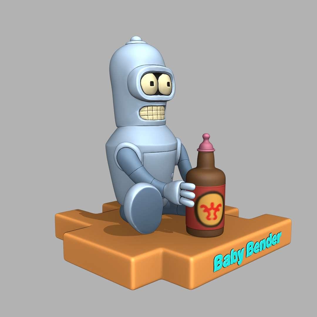 Baby Bender - Bender from the series futurama in baby form, cut model. - Os melhores arquivos para impressão 3D do mundo. Modelos stl divididos em partes para facilitar a impressão 3D. Todos os tipos de personagens, decoração, cosplay, próteses, peças. Qualidade na impressão 3D. Modelos 3D com preço acessível. Baixo custo. Compras coletivas de arquivos 3D.