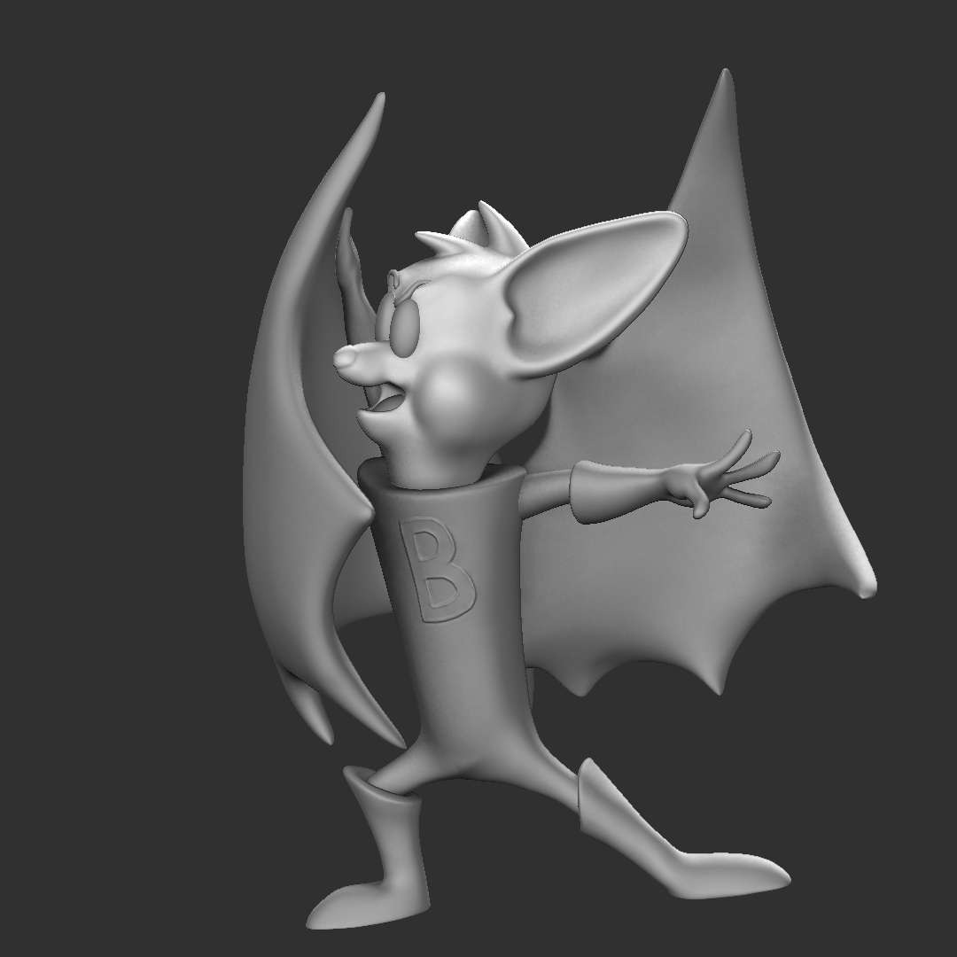 Batfino - Batfink (Batfino) - The best files for 3D printing in the world. Stl models divided into parts to facilitate 3D printing. All kinds of characters, decoration, cosplay, prosthetics, pieces. Quality in 3D printing. Affordable 3D models. Low cost. Collective purchases of 3D files.