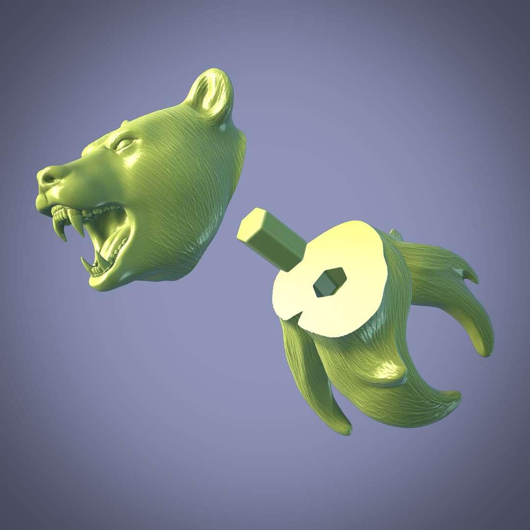 Bear - Urso com forma abstrata para decoração, uma versão inteira e outra cortada no meio. - Los mejores archivos para impresión 3D del mundo. Modelos Stl divididos en partes para facilitar la impresión 3D. Todo tipo de personajes, decoración, cosplay, prótesis, piezas. Calidad en impresión 3D. Modelos 3D asequibles. Bajo costo. Compras colectivas de archivos 3D.