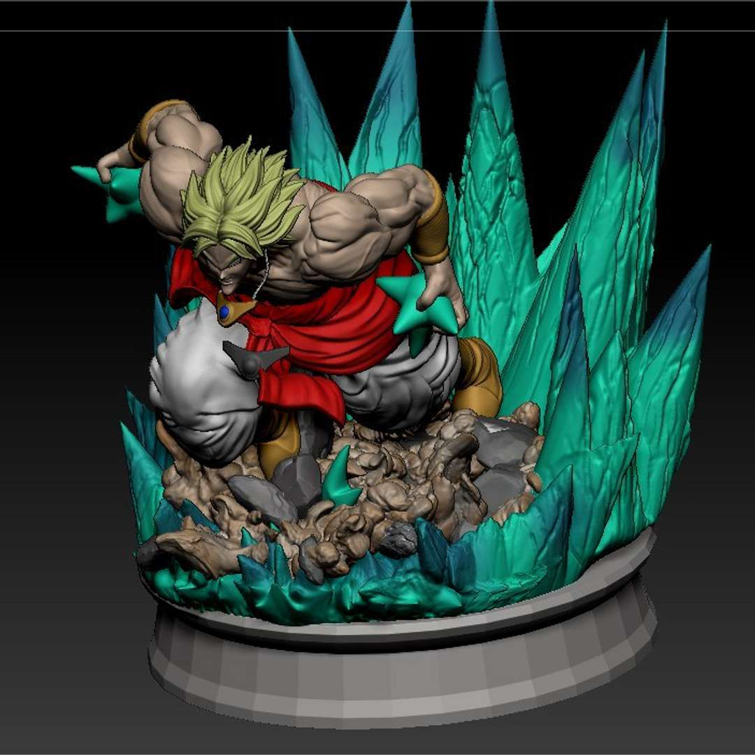 Broly - will be the character from the DB's broly, done in a 20 cm size, all sliced and perfect for printing  - The best files for 3D printing in the world. Stl models divided into parts to facilitate 3D printing. All kinds of characters, decoration, cosplay, prosthetics, pieces. Quality in 3D printing. Affordable 3D models. Low cost. Collective purchases of 3D files.