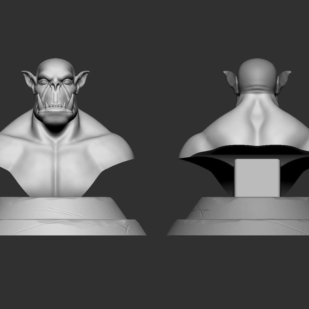 Busto Orc - Sculpture of a Bust Orc no ZBrush for 3D printing.  Escultura de um Busto Orc no ZBrush para impressão 3D.   Sculpture of an Orc Bust in ZBrush for 3D Print. Original Concept: Caio Monteiro.  Ready to print STL files For 3D Print total pices: 3 approximate dimensions: 190x190mm  Hope you like it! ;D  Thank you for downloading and supporting! Please remember to rate my work ! thanks!   - The best files for 3D printing in the world. Stl models divided into parts to facilitate 3D printing. All kinds of characters, decoration, cosplay, prosthetics, pieces. Quality in 3D printing. Affordable 3D models. Low cost. Collective purchases of 3D files.