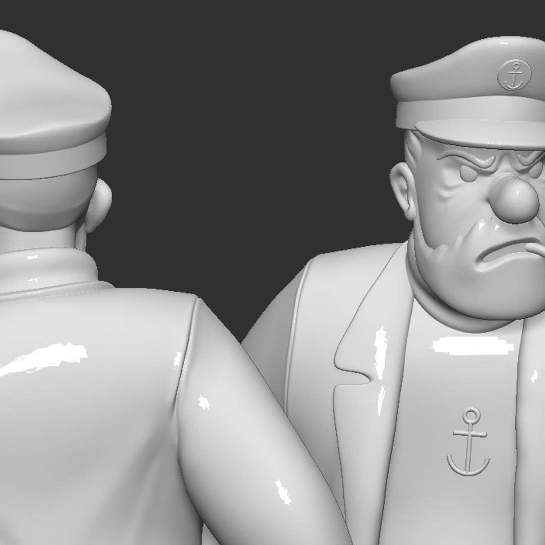 captain haddock - haddock fanart ready for 3dprint base scale is 150mm *personal use only **test print PLA 100% 150mm ***test print resin 50% 75mm - The best files for 3D printing in the world. Stl models divided into parts to facilitate 3D printing. All kinds of characters, decoration, cosplay, prosthetics, pieces. Quality in 3D printing. Affordable 3D models. Low cost. Collective purchases of 3D files.