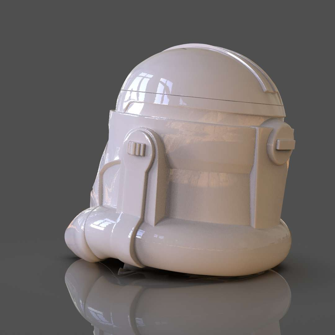 Clone Trooper Helmet Vase - A vase of an animated clone trooper helmet ideal for storage gifts ready for 3d print I included the OBJ, STL if you need 3D Game Assets or stl files I can do commission works.   - The best files for 3D printing in the world. Stl models divided into parts to facilitate 3D printing. All kinds of characters, decoration, cosplay, prosthetics, pieces. Quality in 3D printing. Affordable 3D models. Low cost. Collective purchases of 3D files.
