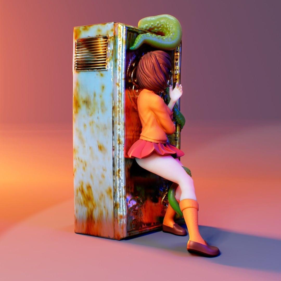 Velma - I have wanted to model Velma for a while in the Lovecraft universe. I found a Velma concept with a cabinet I thought it would be perfect to adapt.  - Os melhores arquivos para impressão 3D do mundo. Modelos stl divididos em partes para facilitar a impressão 3D. Todos os tipos de personagens, decoração, cosplay, próteses, peças. Qualidade na impressão 3D. Modelos 3D com preço acessível. Baixo custo. Compras coletivas de arquivos 3D.