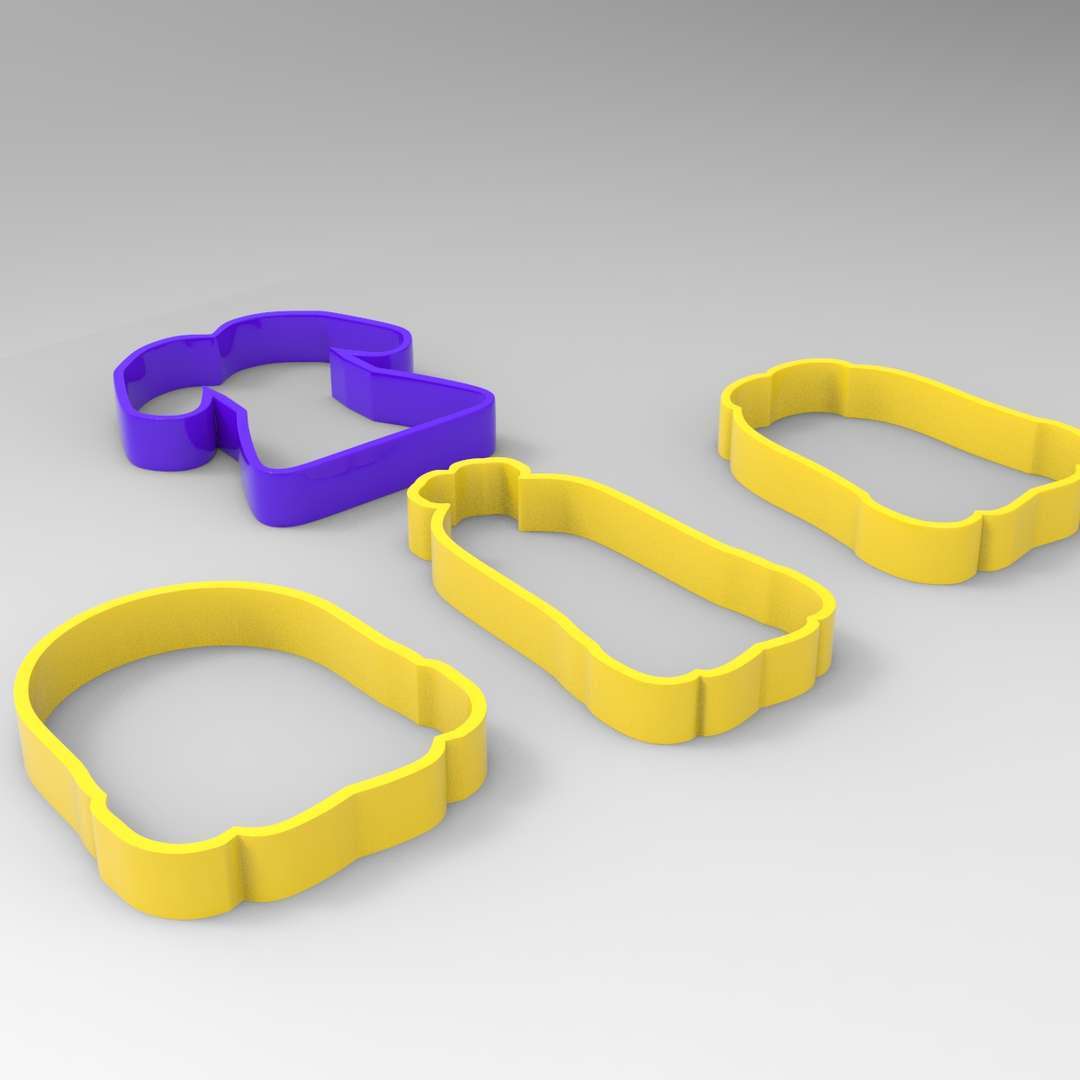 Cookie Cutter Minions Pack - A pack of minions silhouettes cookie cutters ready for 3d print I included the OBJ and STL files if you need 3D Game Assets or STL files I can do commission works.   - The best files for 3D printing in the world. Stl models divided into parts to facilitate 3D printing. All kinds of characters, decoration, cosplay, prosthetics, pieces. Quality in 3D printing. Affordable 3D models. Low cost. Collective purchases of 3D files.