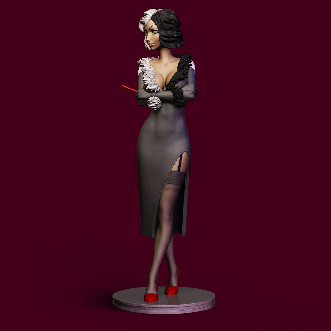 Cruella DeVille - sending the model with the requested adjustments. - Los mejores archivos para impresión 3D del mundo. Modelos Stl divididos en partes para facilitar la impresión 3D. Todo tipo de personajes, decoración, cosplay, prótesis, piezas. Calidad en impresión 3D. Modelos 3D asequibles. Bajo costo. Compras colectivas de archivos 3D.