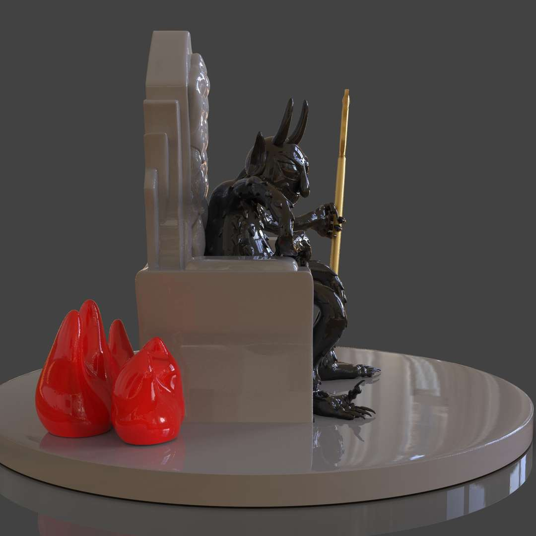 Cuphead The Devil Sculpture - A sculpture of The Devil from the video game Cuphead ready for 3d print I separate the parts for easy 3d print I included the OBJ, STL files if you need 3D game assets or stl files I can do commission works.   - The best files for 3D printing in the world. Stl models divided into parts to facilitate 3D printing. All kinds of characters, decoration, cosplay, prosthetics, pieces. Quality in 3D printing. Affordable 3D models. Low cost. Collective purchases of 3D files.