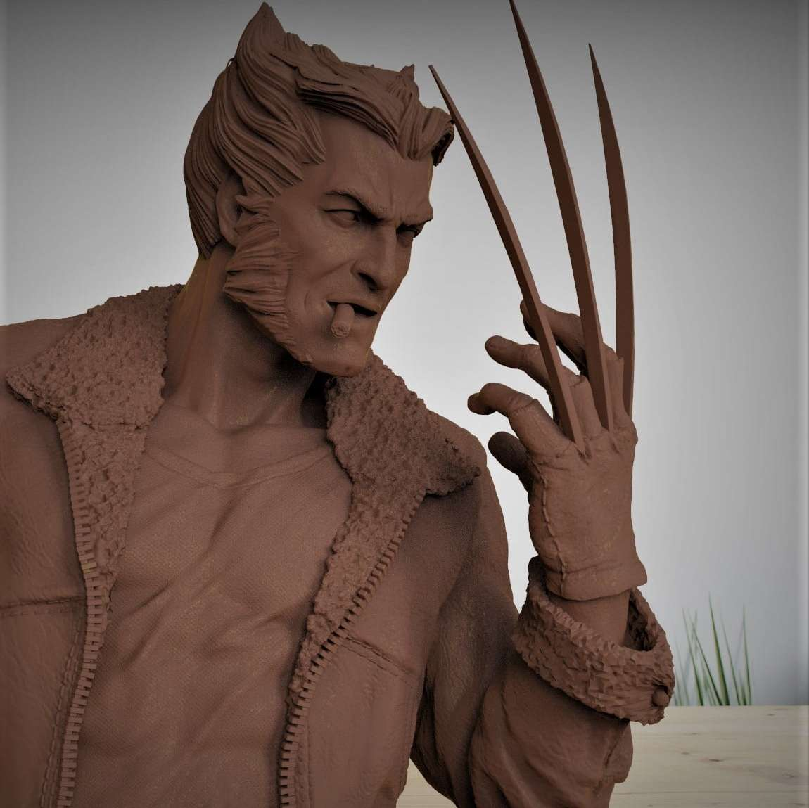 Bust Wolverine - Wolverine bust modeling inspired by Alex Ross's Art - The best files for 3D printing in the world. Stl models divided into parts to facilitate 3D printing. All kinds of characters, decoration, cosplay, prosthetics, pieces. Quality in 3D printing. Affordable 3D models. Low cost. Collective purchases of 3D files.