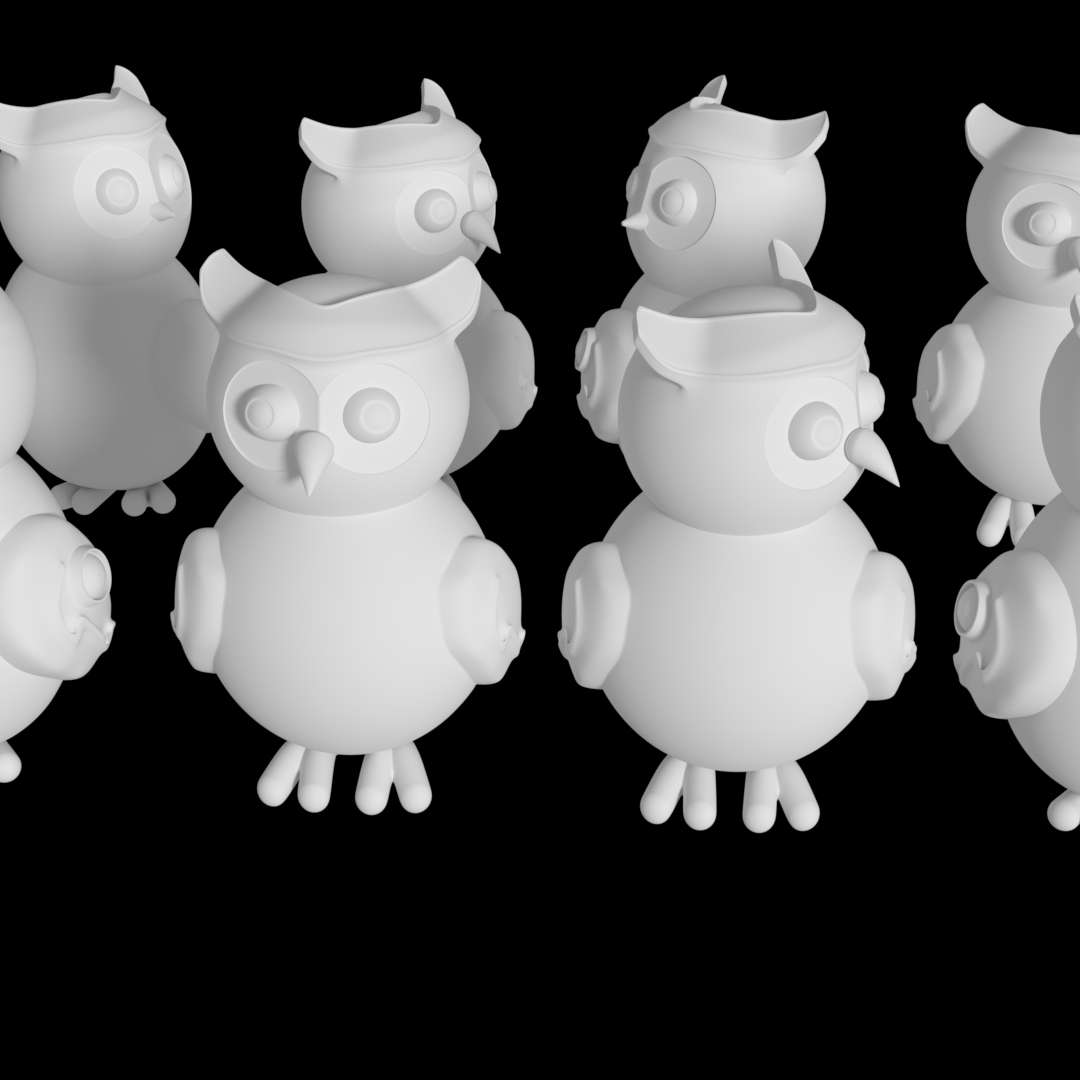 DECORATIVE OWL PACK STL FOR 3D PRINTING - It's a pack with 8 models .stl for 3D priting.  You can sell the printed models, but you doesn't can sell the .stl models.  I do for orders too. - The best files for 3D printing in the world. Stl models divided into parts to facilitate 3D printing. All kinds of characters, decoration, cosplay, prosthetics, pieces. Quality in 3D printing. Affordable 3D models. Low cost. Collective purchases of 3D files.