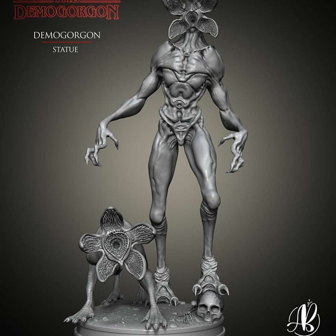 Demogorgon - Hello guys, today I bring the Demogorgon from the Stranger Things series. 30 cm high model. Separated into 13 pieces.  Olá pessoal, hoje trago o Demogorgon da série Stranger Things. Modelo com 30 cm de altura. Separado em 13 peças. - The best files for 3D printing in the world. Stl models divided into parts to facilitate 3D printing. All kinds of characters, decoration, cosplay, prosthetics, pieces. Quality in 3D printing. Affordable 3D models. Low cost. Collective purchases of 3D files.