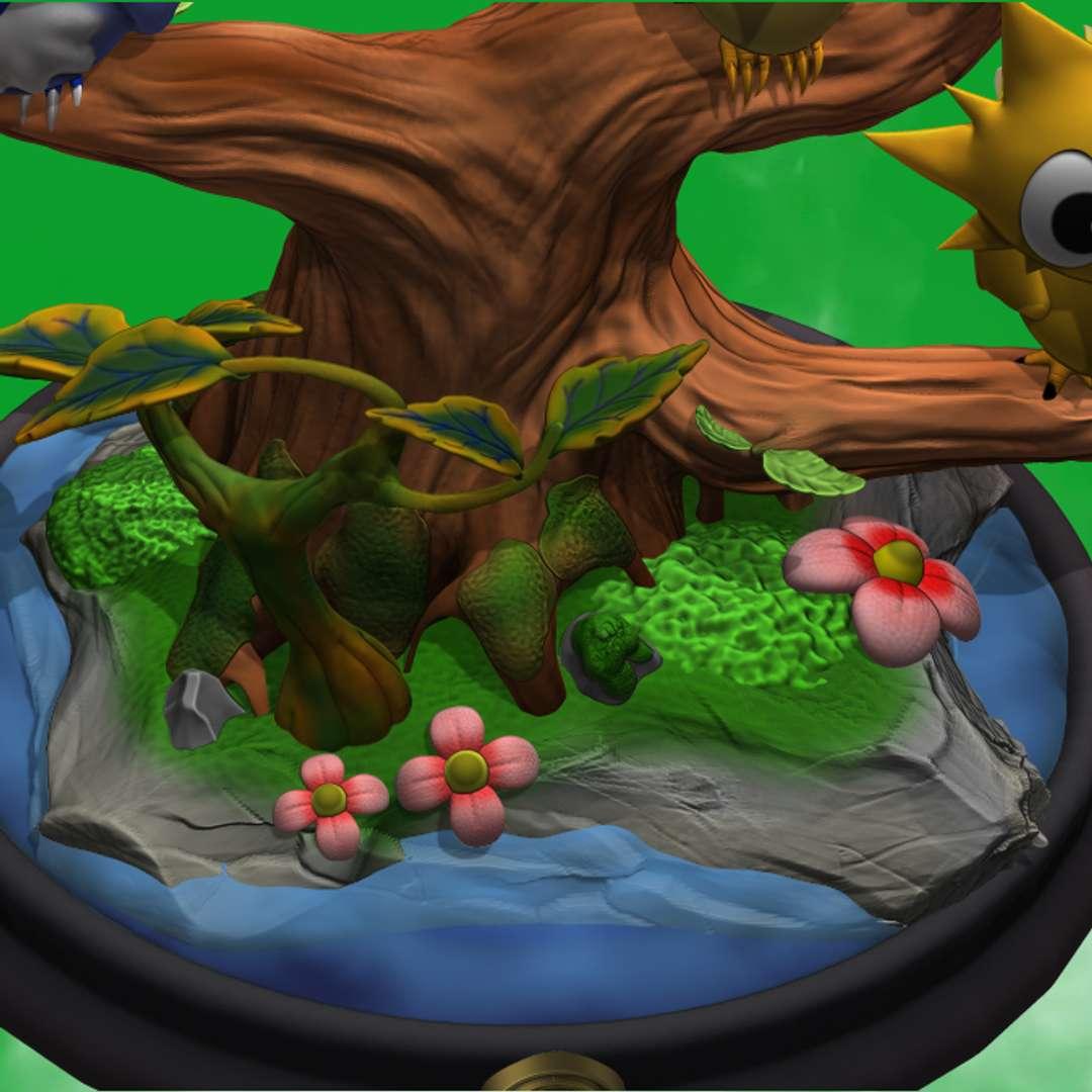 Diorama 3 legendary birds Pokemon  - Diorama 3 legendary birds Pokemon  model cut int. 2 bases 1 to apply resin to make the lake 2 birds cut or full 35cm the model 13,7in the model  350mm the model   - Los mejores archivos para impresión 3D del mundo. Modelos Stl divididos en partes para facilitar la impresión 3D. Todo tipo de personajes, decoración, cosplay, prótesis, piezas. Calidad en impresión 3D. Modelos 3D asequibles. Bajo costo. Compras colectivas de archivos 3D.
