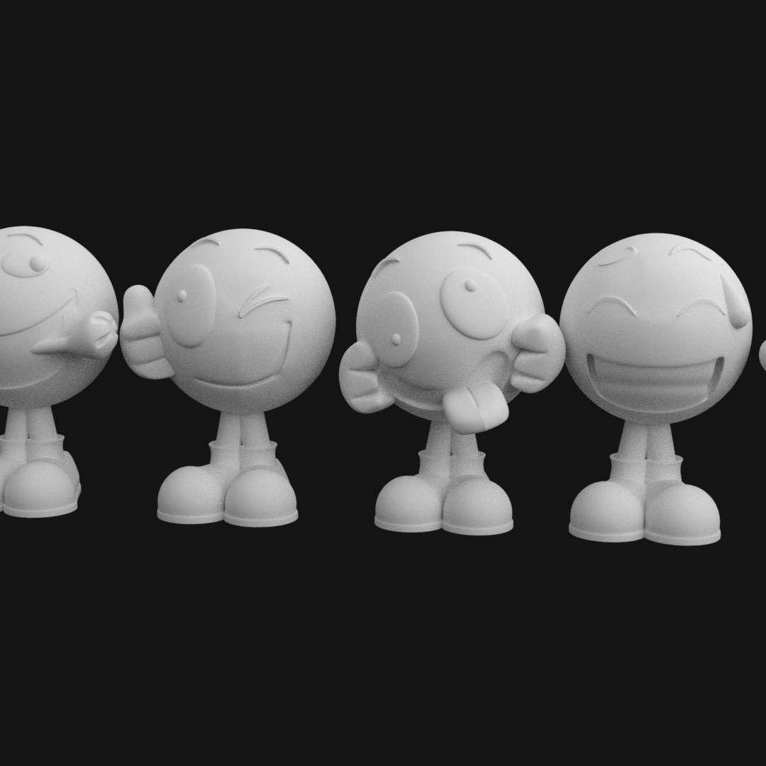 Emojis Pack stl for 3D priting - It's a pack with 6 models .stl for priting.  You can sell the printed models, but you doesn't can sell the .stl models.  I do for orders too - Os melhores arquivos para impressão 3D do mundo. Modelos stl divididos em partes para facilitar a impressão 3D. Todos os tipos de personagens, decoração, cosplay, próteses, peças. Qualidade na impressão 3D. Modelos 3D com preço acessível. Baixo custo. Compras coletivas de arquivos 3D.