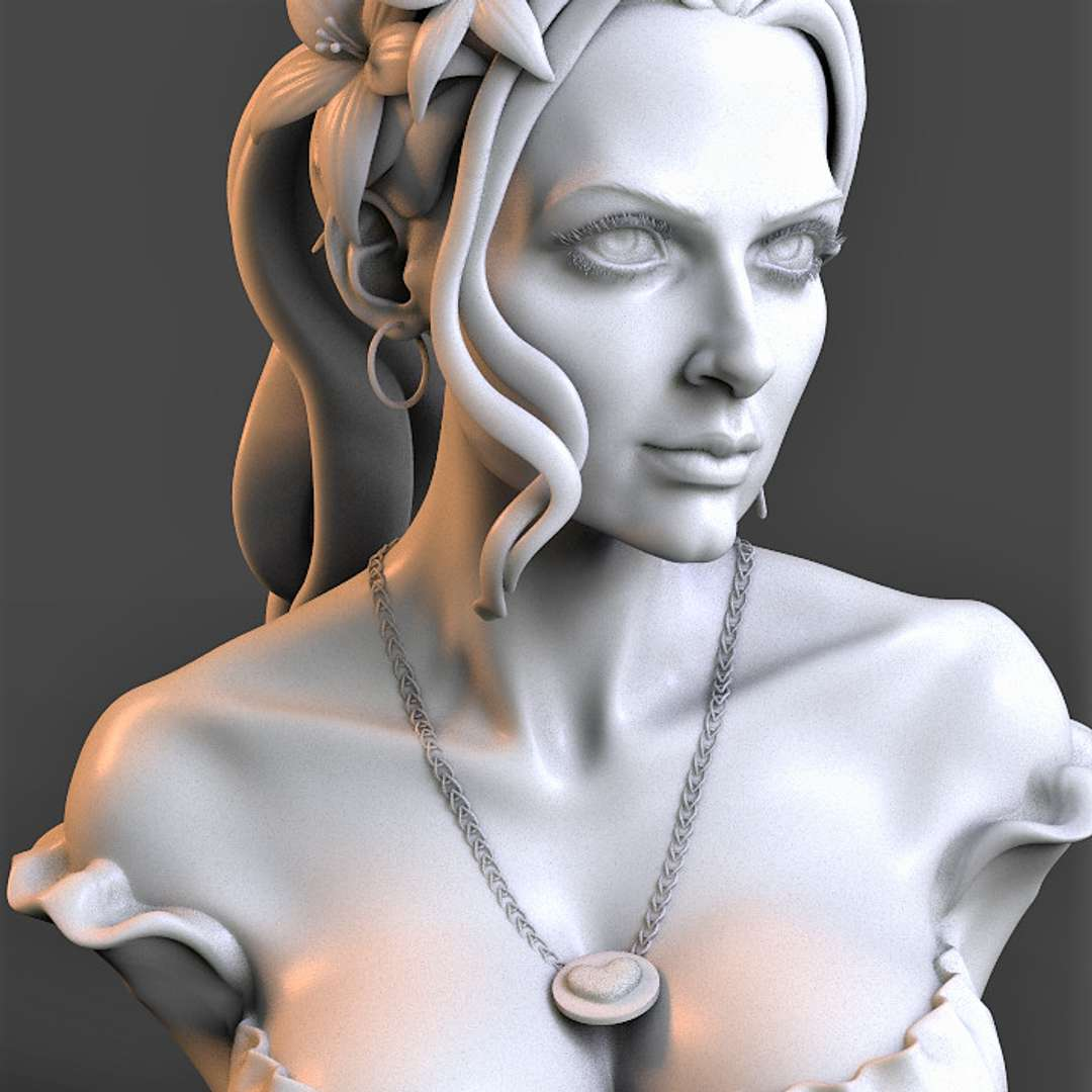 """Flower girl - """"Flower Girl"""" 3d model in STL format for 3D printing . - The best files for 3D printing in the world. Stl models divided into parts to facilitate 3D printing. All kinds of characters, decoration, cosplay, prosthetics, pieces. Quality in 3D printing. Affordable 3D models. Low cost. Collective purchases of 3D files."""