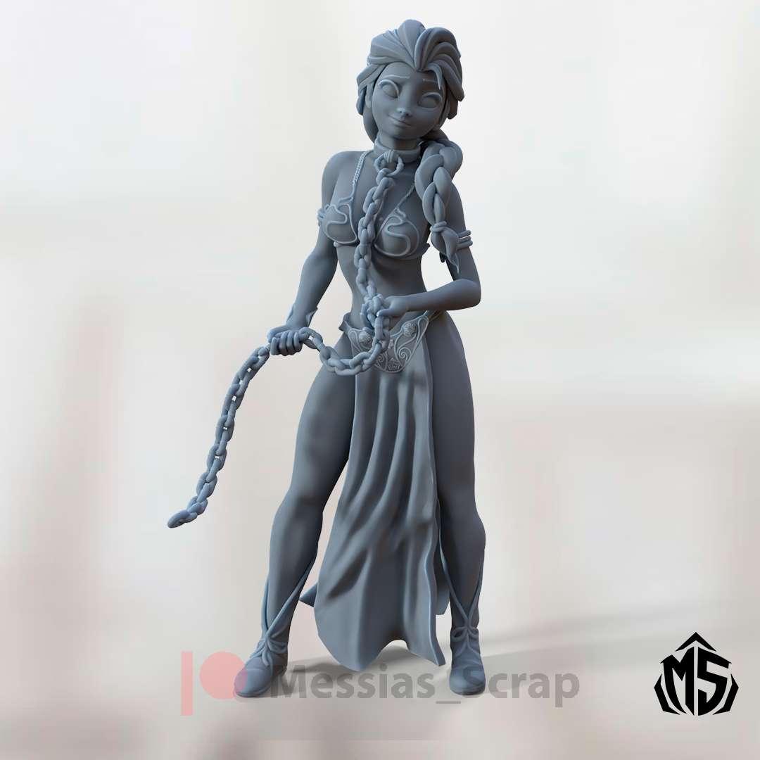 Frozen Elsa as slave Leia - Elsa from Frozen modeled as slave Leia, standing upright. - Los mejores archivos para impresión 3D del mundo. Modelos Stl divididos en partes para facilitar la impresión 3D. Todo tipo de personajes, decoración, cosplay, prótesis, piezas. Calidad en impresión 3D. Modelos 3D asequibles. Bajo costo. Compras colectivas de archivos 3D.