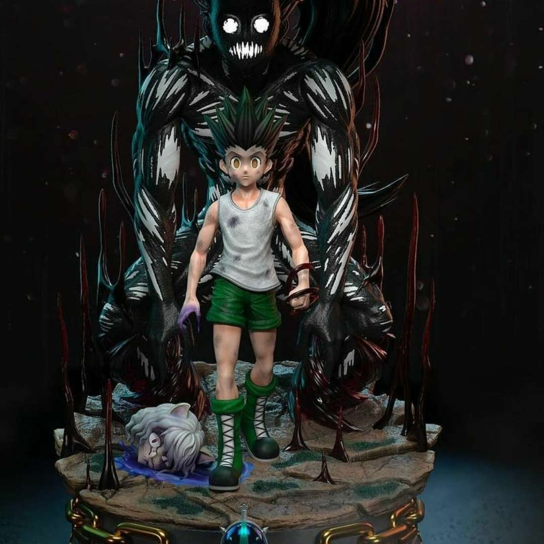 Gon Hunter x Hunter - Gon do anime Hunter x Hunter - The best files for 3D printing in the world. Stl models divided into parts to facilitate 3D printing. All kinds of characters, decoration, cosplay, prosthetics, pieces. Quality in 3D printing. Affordable 3D models. Low cost. Collective purchases of 3D files.