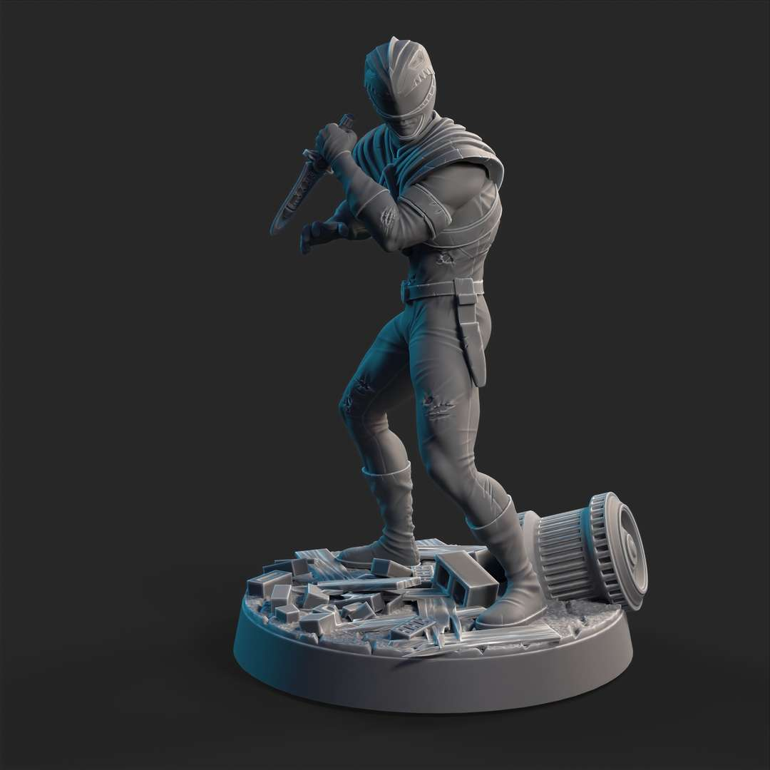 green ranger - we want the green ranger dynamic pose possible battle damaged - Los mejores archivos para impresión 3D del mundo. Modelos Stl divididos en partes para facilitar la impresión 3D. Todo tipo de personajes, decoración, cosplay, prótesis, piezas. Calidad en impresión 3D. Modelos 3D asequibles. Bajo costo. Compras colectivas de archivos 3D.