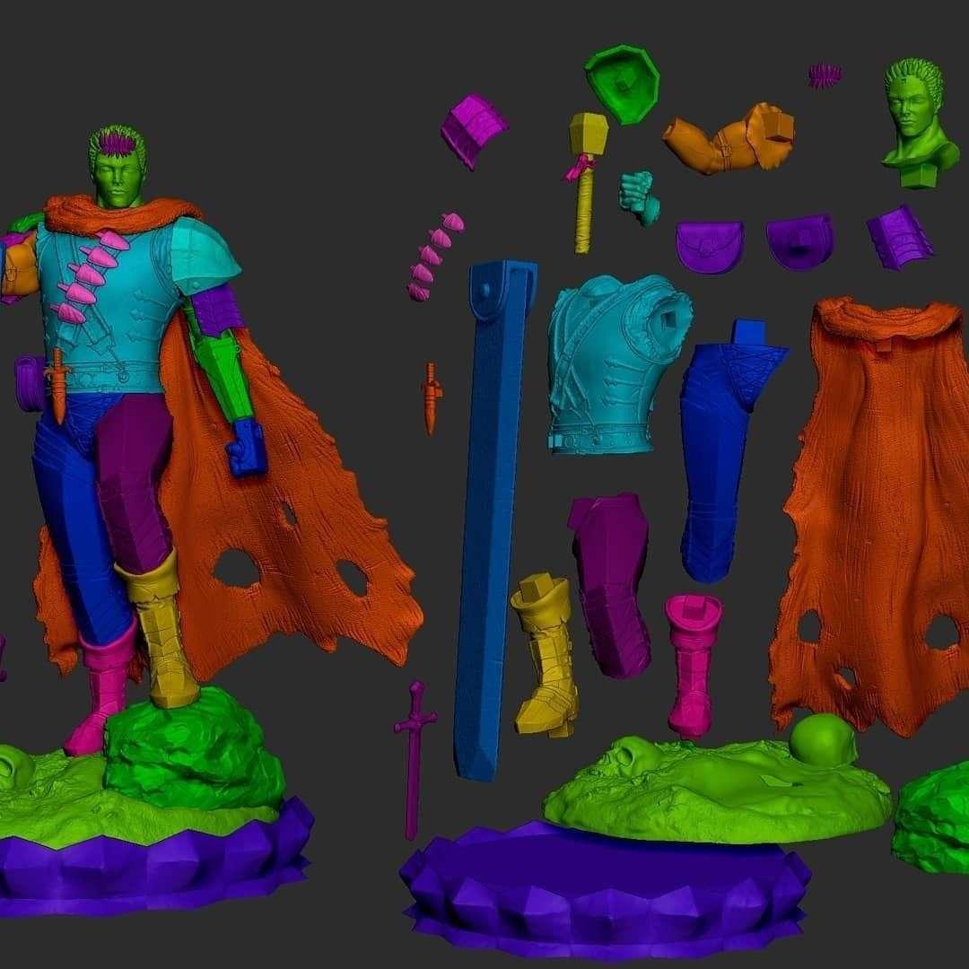 Guts - Berserk - Guts character from Berserk Manga for 3D printing - Os melhores arquivos para impressão 3D do mundo. Modelos stl divididos em partes para facilitar a impressão 3D. Todos os tipos de personagens, decoração, cosplay, próteses, peças. Qualidade na impressão 3D. Modelos 3D com preço acessível. Baixo custo. Compras coletivas de arquivos 3D.