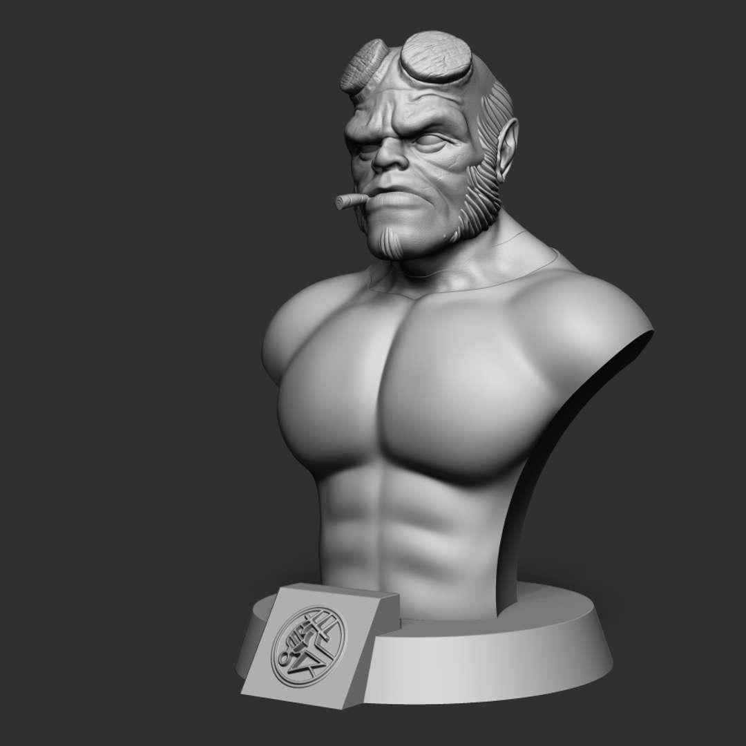 Hellboy Bust 3D print model - Stylized Hellboy bust for 3d print  File formats STL.OBJ.  model height(in zbrush):235 mm,width:170 mm, depth:150 mm  Decimated model 820k points - Los mejores archivos para impresión 3D del mundo. Modelos Stl divididos en partes para facilitar la impresión 3D. Todo tipo de personajes, decoración, cosplay, prótesis, piezas. Calidad en impresión 3D. Modelos 3D asequibles. Bajo costo. Compras colectivas de archivos 3D.