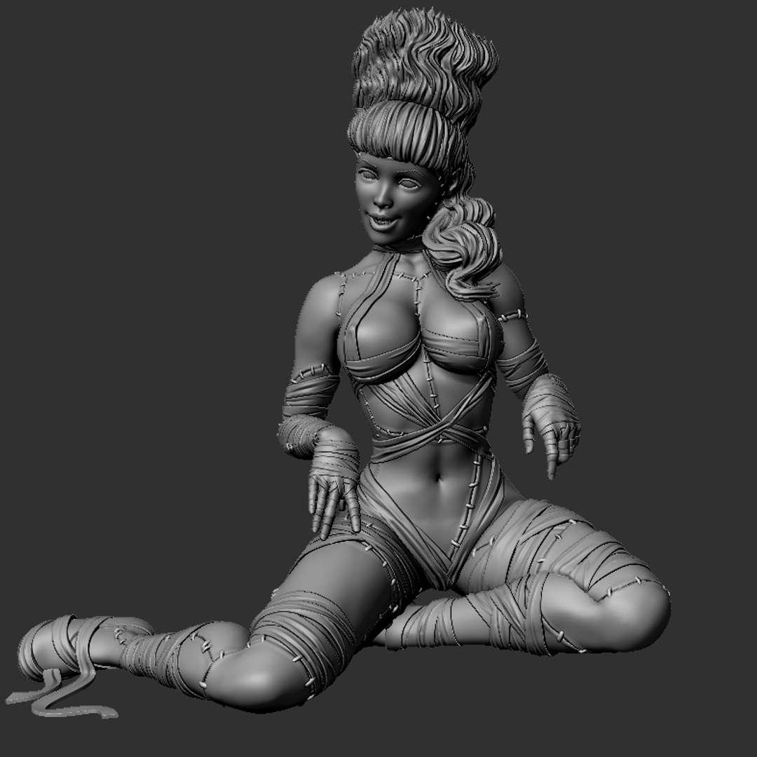 Horror Betty Paige - Betty Paige as illustrated by the famous Olilvia DeBerardinis - Los mejores archivos para impresión 3D del mundo. Modelos Stl divididos en partes para facilitar la impresión 3D. Todo tipo de personajes, decoración, cosplay, prótesis, piezas. Calidad en impresión 3D. Modelos 3D asequibles. Bajo costo. Compras colectivas de archivos 3D.