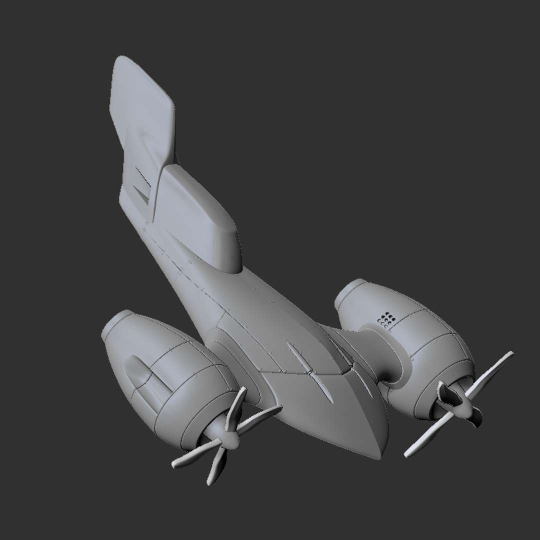 Hyper-Modernized F4U - Hyper-stylized version of an F4U - The best files for 3D printing in the world. Stl models divided into parts to facilitate 3D printing. All kinds of characters, decoration, cosplay, prosthetics, pieces. Quality in 3D printing. Affordable 3D models. Low cost. Collective purchases of 3D files.