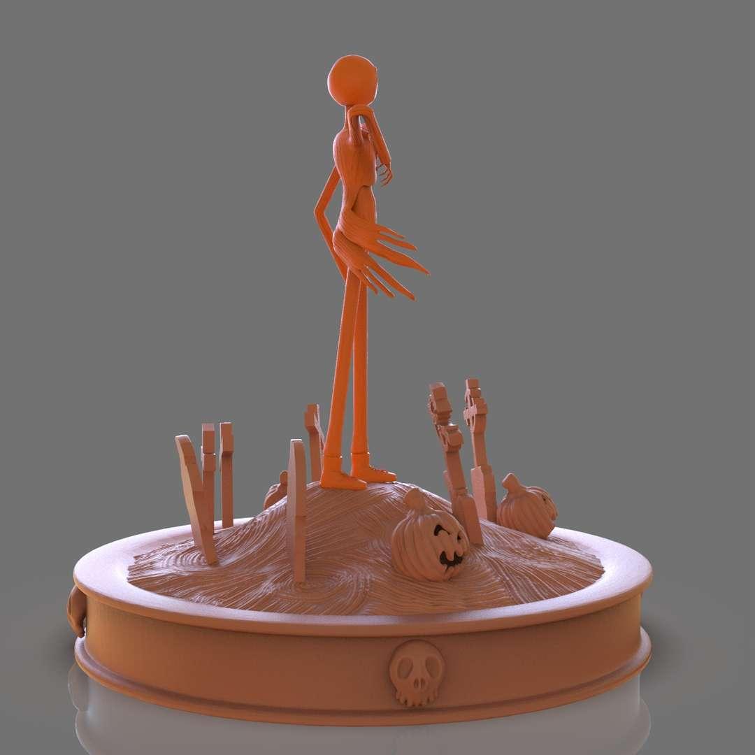 Jack Skellington Sculpture - Fanart of Jack Skelligton I set up for 3d printing is 3 parts the base the scene and the character separate for easy 3d print and includes the STL, and OBJ files if you need 3D Game Assets or STL files I can do commission works.   - Los mejores archivos para impresión 3D del mundo. Modelos Stl divididos en partes para facilitar la impresión 3D. Todo tipo de personajes, decoración, cosplay, prótesis, piezas. Calidad en impresión 3D. Modelos 3D asequibles. Bajo costo. Compras colectivas de archivos 3D.