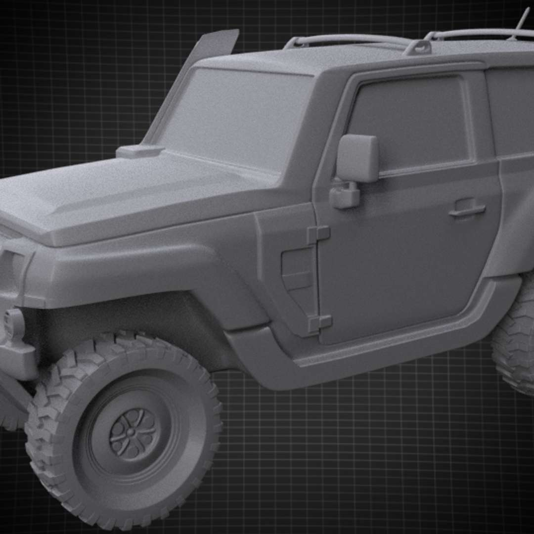 Jeep stl for 3D printing with separated Wheel - Jeep stl for 3D printing with separated Whell  2 files for printing - The best files for 3D printing in the world. Stl models divided into parts to facilitate 3D printing. All kinds of characters, decoration, cosplay, prosthetics, pieces. Quality in 3D printing. Affordable 3D models. Low cost. Collective purchases of 3D files.